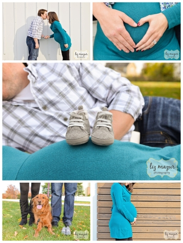maternity photos with dog