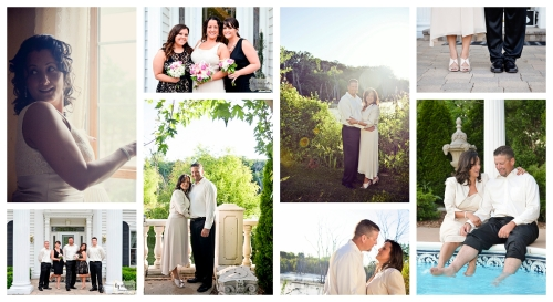 small wedding portraits